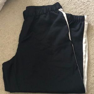 Black and white jogger trouser